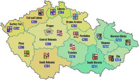 Czech mapa
