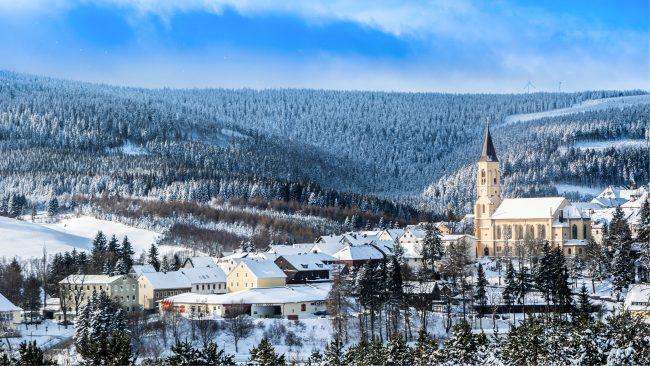 oberwiesenthal klínovec krušné hory lyžování
