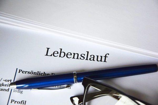 životopis v němčině